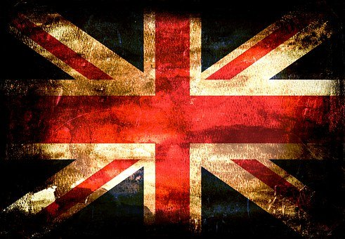 Fahne, Großbritannien, England, Flagge