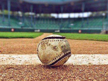野球, 夏, ゲーム, スポーツ, 野球場, 野球の背景, ボール