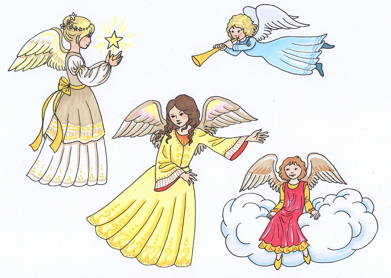 картинки рождественских ангелов с крыльями урал
