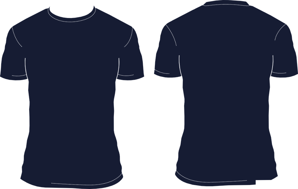 t shirt template blank 183 free vector graphic on pixabay