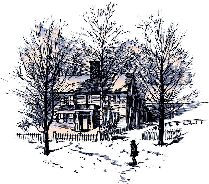 Winter, House, Snow, Season, Tree, Home, Landscape