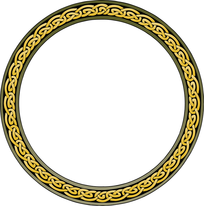 border ring frame design circle decoration round
