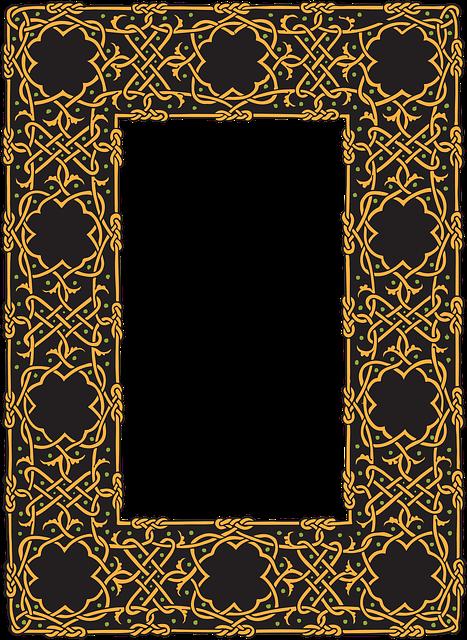 Free Illustration Border Celtic Frame Design Free