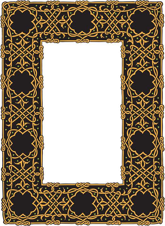 border celtic frame design ornament pattern knot
