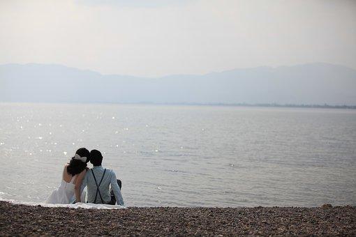 Beach, Romantic, Couples, Love, Wedding