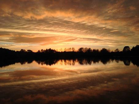 Sky, Sunset, Norfolk, Broads, Nature