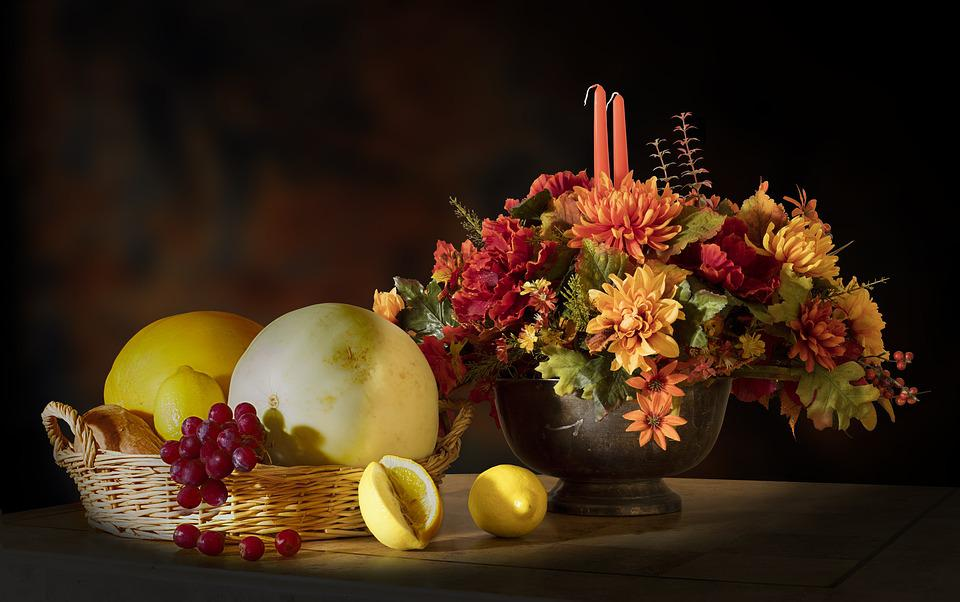 Free Photo Fruits Flowers Candle Lemon Free Image On