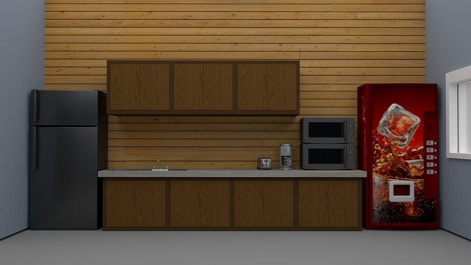 Break Room, Office, Vending, Work, Business, Room
