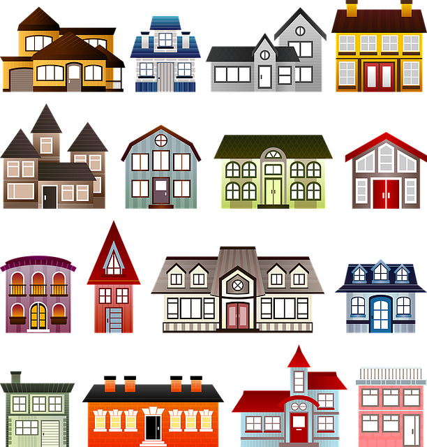 houses set architecture clip free image on pixabay. Black Bedroom Furniture Sets. Home Design Ideas