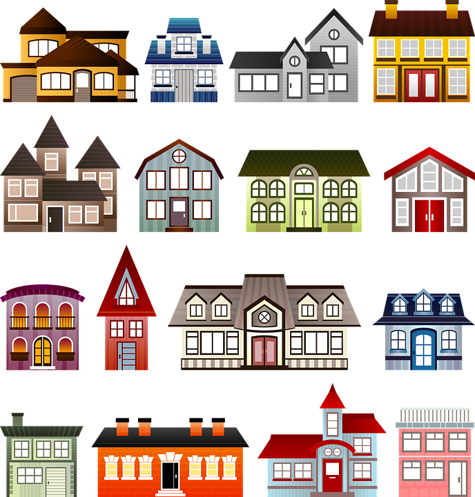 houses set architecture clip free image on pixabay rh pixabay com house clipart outline houses clipart black and white