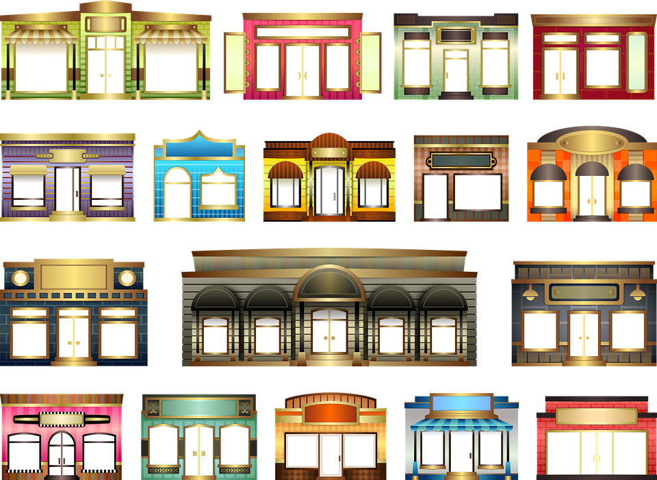 Stores Store Fronts Set 183 Free Image On Pixabay