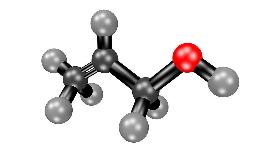 free illustration acetone molecule free image on