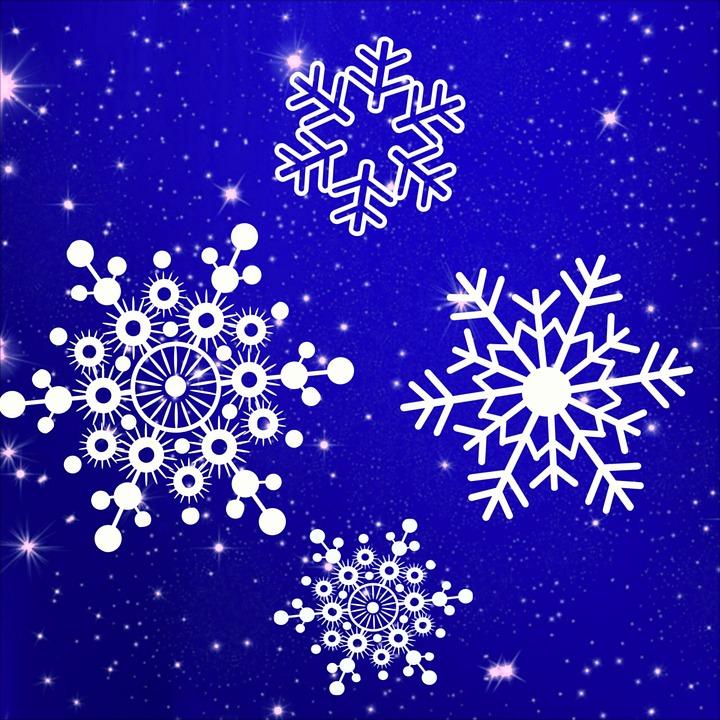 Illustration gratuite flocons de neige flocon la neige image gratuite sur pixabay 1096416 - Gabarit flocon de neige a decouper ...