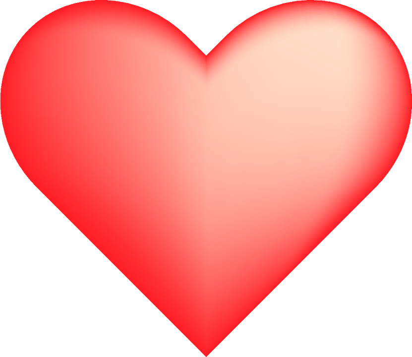 Heart Shade Red · Free vector graphic on Pixabay