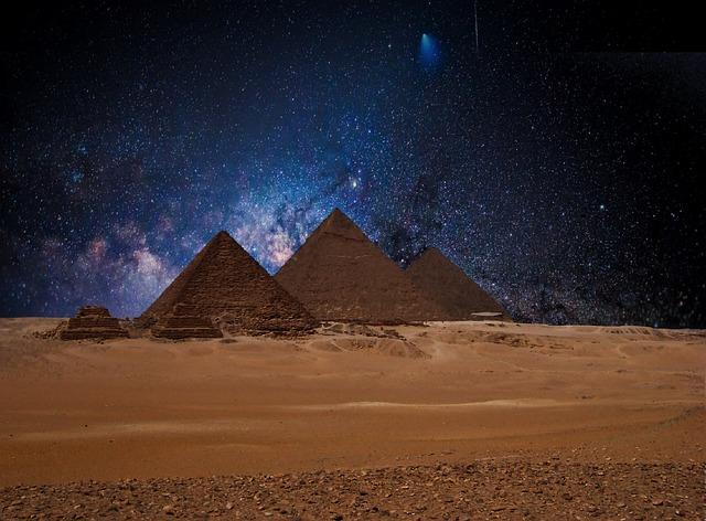 Star Night Sky Pyramid...
