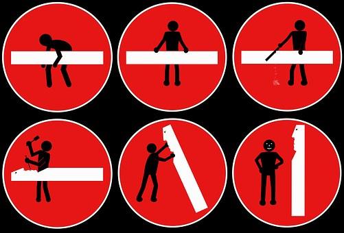 简笔画, 历史图片, 路标, 交通标志, 行动, 孤立, 交通, 路牌, 滑稽
