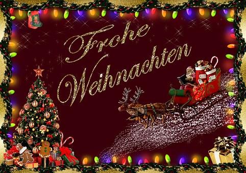 Weihnachten, Weihnachtskarte