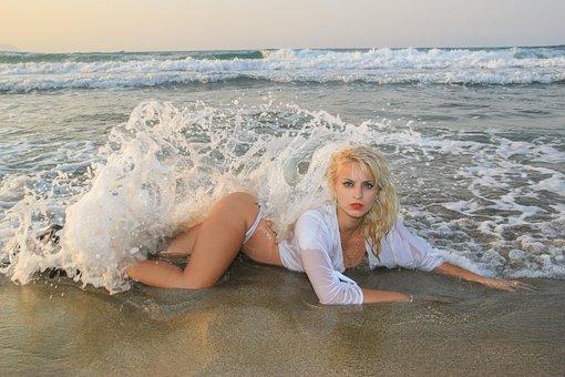Beach, Lingerie, Sea, Sexy, Summer