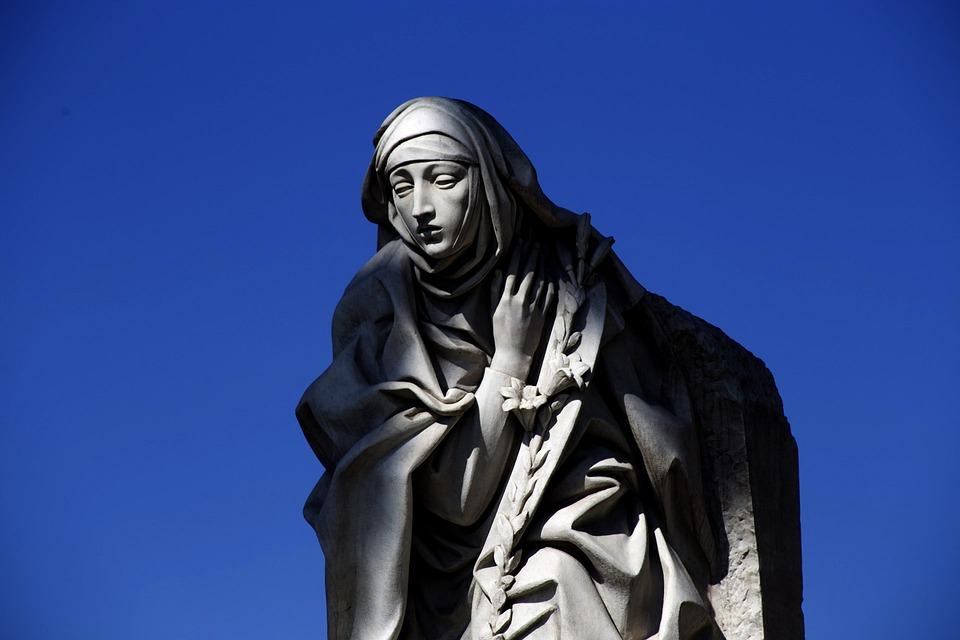 Statue, Blue, Mother Teresa, The Vatican