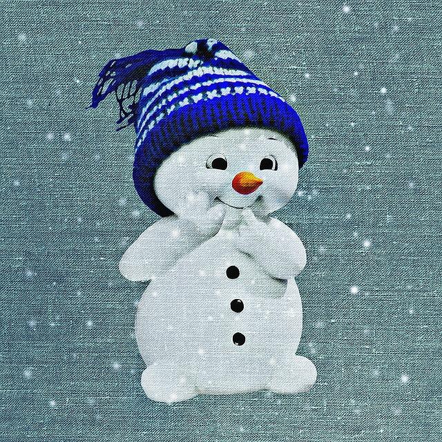 Illustration gratuite bonhomme de neige tissus image - Bonhomme de neige en pompon ...