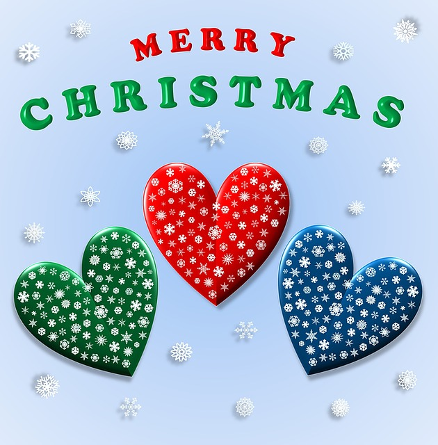 Free illustration: Merry Christmas, Hearts, Love - Free ...