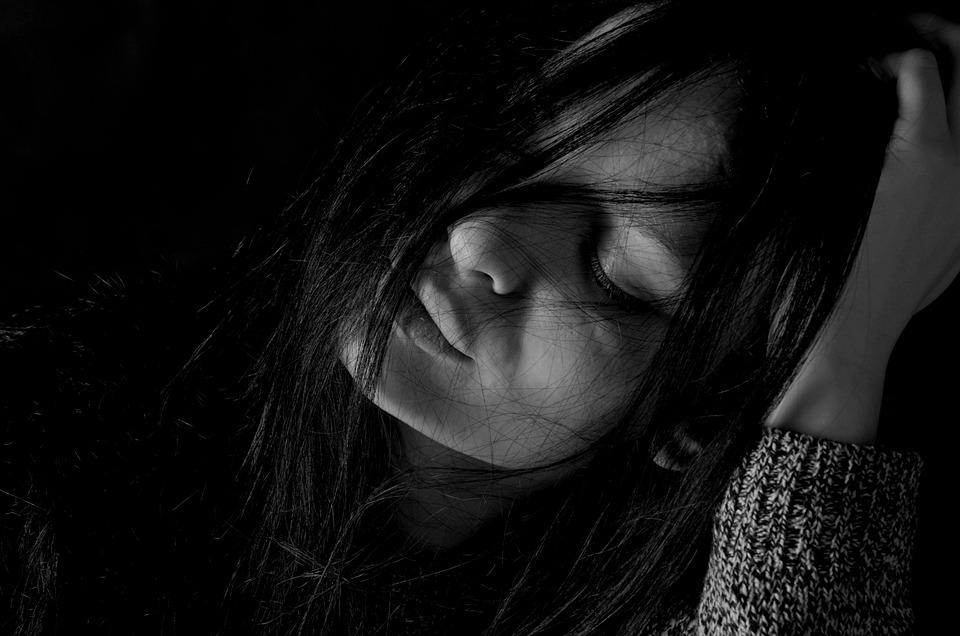 Ragazza, Depressione, Tristezza, Capelli