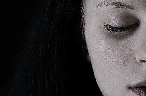 Niña, La Depresión, Tristeza, Cara