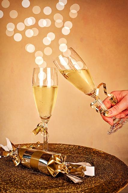 Silvester Champagner Neujahrsfeier · Kostenloses Bild auf ...