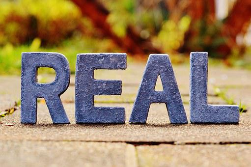 Reality, Real, Really, True, Lettering
