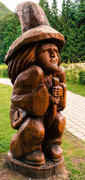 Kostenloses Foto Goblin Holz Statue Zwerg Daemon