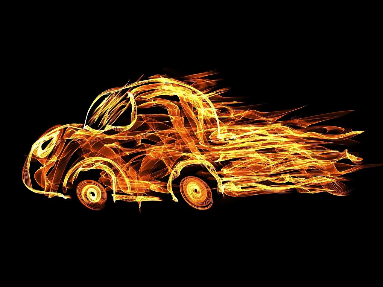 авто в огне картинки окончанию
