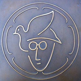John Lennon, Memorial Plaque, Plackette