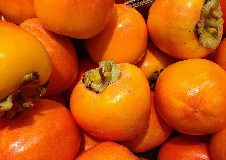 Фрукты, Хурма, Осень, Оранжевый