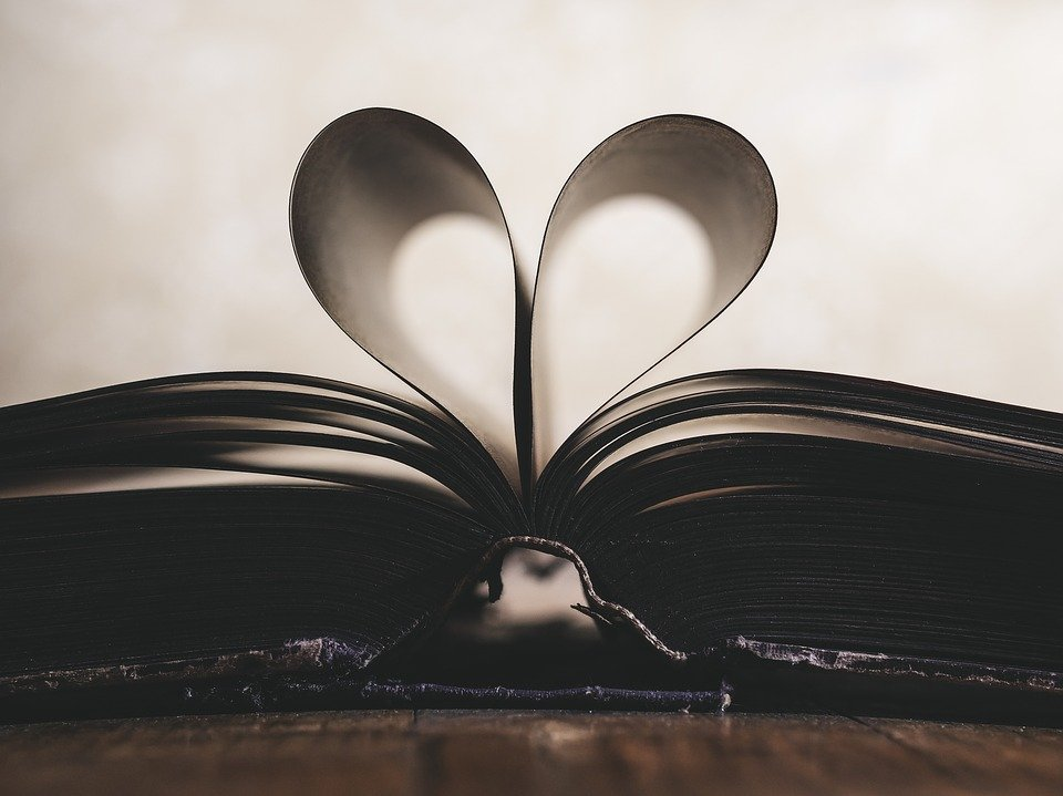 book in a heart shape