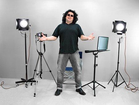 ディレクター, ステージの方向, 非常に, 腸, 映画のセット, 写真撮影
