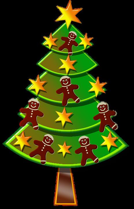rbol de navidad estrellas pan de jengibre navidad