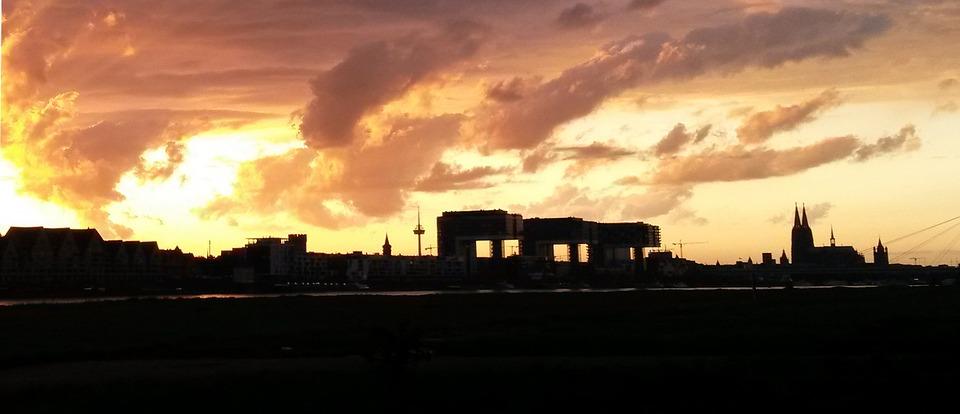 Sonnenuntergang köln