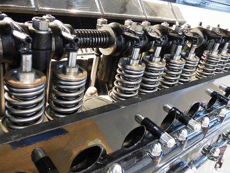 エンジン, 自動車の, シリンダー, 車, セクション, メカニズム, ハイテク