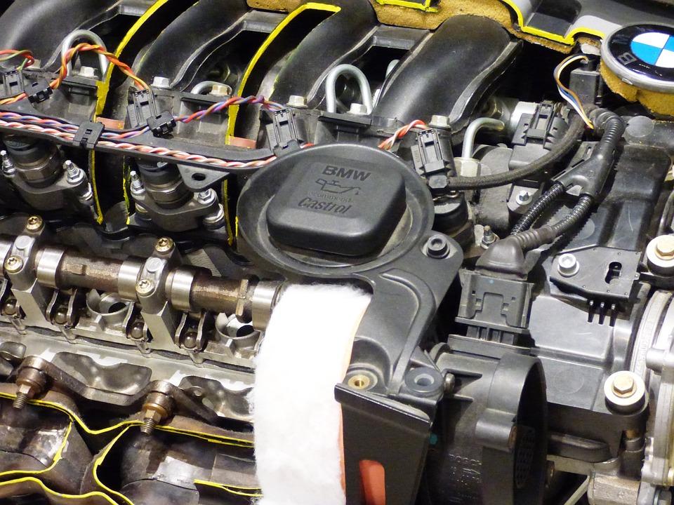 エンジン, 自動車の, シリンダー, 車, セクション, メカニズム, ハイテク, オイル