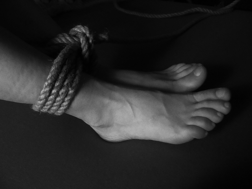 Foot, Feet, Toes, Sexy, Legs, Rope, Tied, Tying, Woman