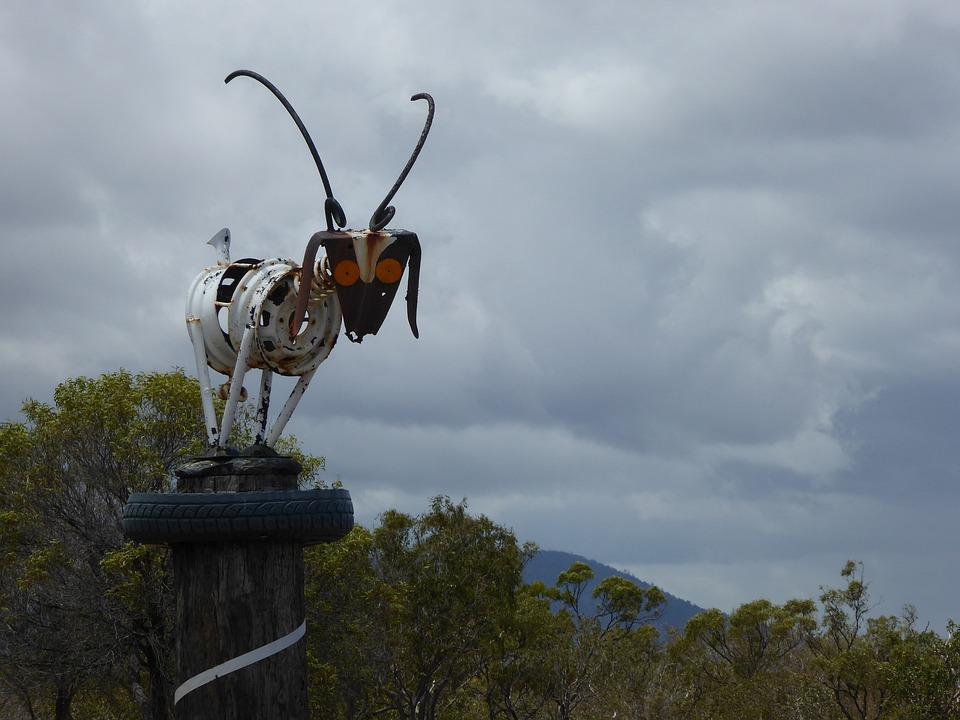 Goat, Sculpture, Recycle, Folk Art, Art, Animal, Farm, upcycle, upcycling ideas