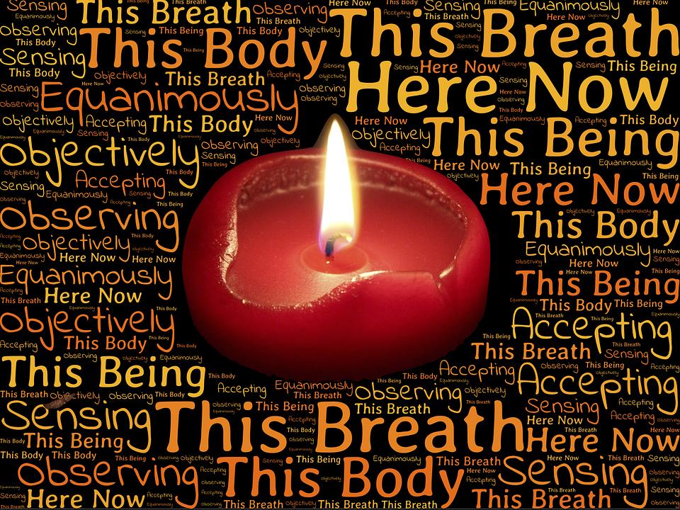 Vipassana, Meditazione, Candela, Fiamma, Coscienza