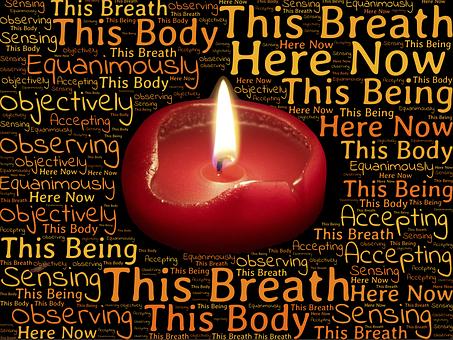 Vipassana Meditation Candle Flame Consciou