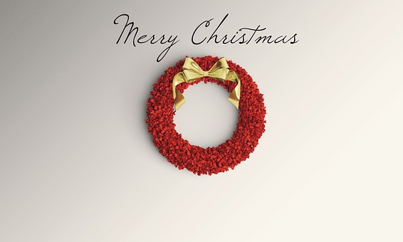 Christmas Background Wreath Holiday C