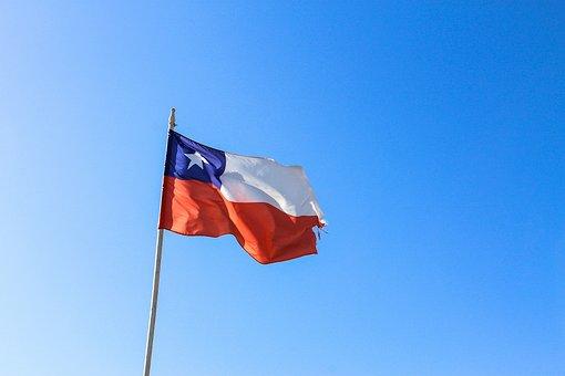 Bandera Chilena Chile Cielo Cielo Azulado