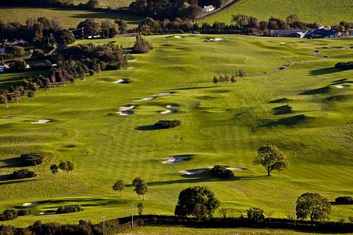 Golf Course, Glen Of The Downs, Wicklow