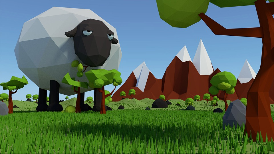 free illustration  sheep  low  poly  low poly  fantasy - free image on pixabay