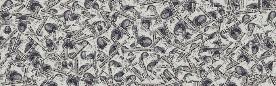 Banneri, Otsikko, Talouden, Dollar, Valuutta, Rahaa
