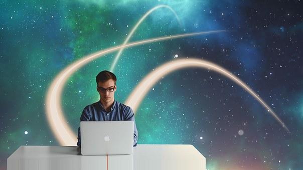 起業家, 開始, 飛行経路, 宇宙, スター, スペース, 起動します