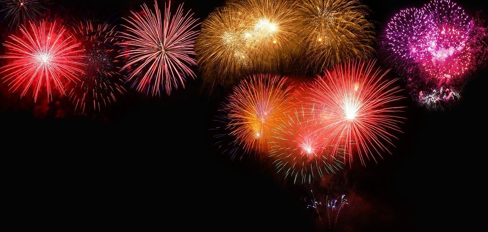 シルベスター, 新年の日, 花火, バナー, 大晦日, 年, ラジオ, 祝う, 運, 夜